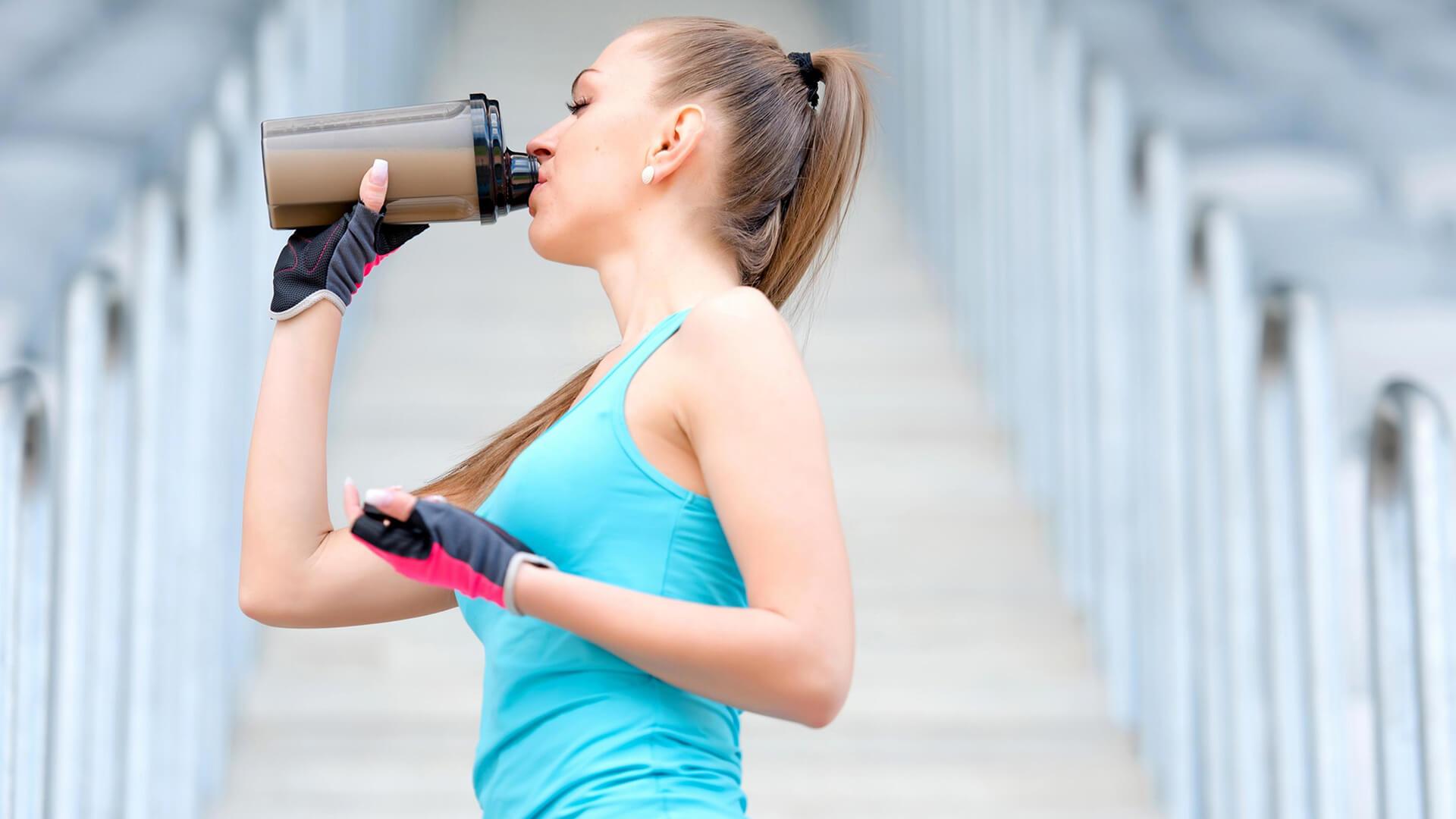 Протеин для набора мышечной массы для девушек: фото.