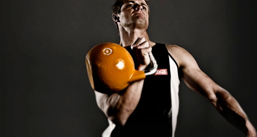 упражнения с гирей на плечи: фото.